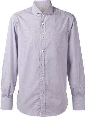Brunello Cucinelli Spread Collar Mini Check Shirt