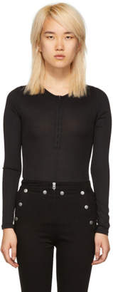 Rag & Bone Black Mica Bodysuit