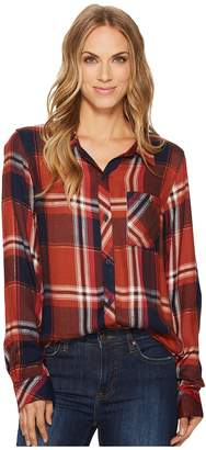 True Grit Dylan by Luxe Rayon Peyton Plaid Shirt Women's Long Sleeve Button Up