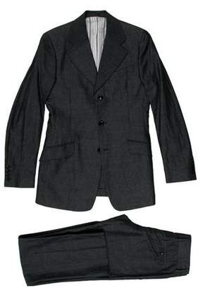 Dolce & Gabbana Linen-Blend Notch-Lapel Suit