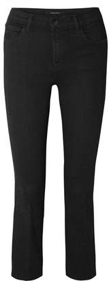 J Brand Selena Cropped Mid-rise Flared Jeans - Black