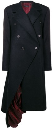 Y/Project exposed lining asymmetric coat