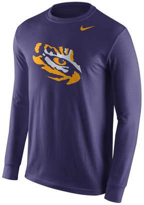 Nike Men's Lsu Tigers Logo Long-Sleeve T-Shirt