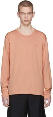 Acne Studios Pink Long Sleeve Nash Face T-Shirt
