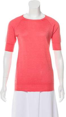Prada Cashmere Short-Sleeve Top
