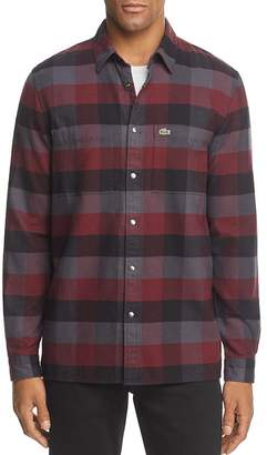 Lacoste Plaid Long Sleeve Button-Down Shirt