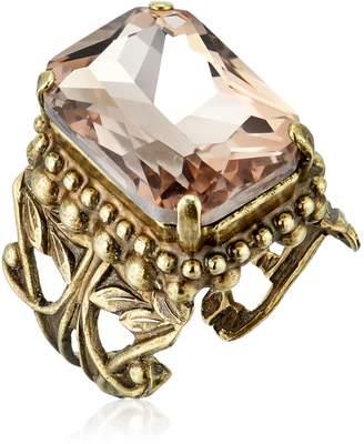 "Sorrelli Peony"" Emerald Cut Band Ring, Size 7-9"