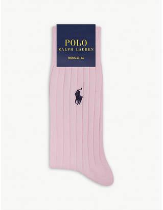 Polo Ralph Lauren Ribbed Egyptian cotton socks