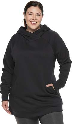 Tek Gear Plus Size Fleece Raglan Tunic Hoodie