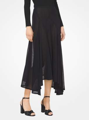 Michael Kors Linen-Gauze Scarf Skirt
