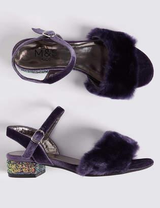 Marks and Spencer Kids Block Heel Sandal (13 Small 6 Large)