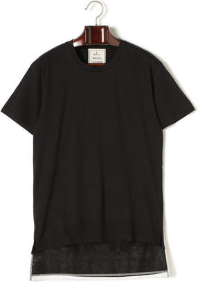 Miharayasuhiro ファイアプリント バックロング 半袖Tシャツ ブラック 44