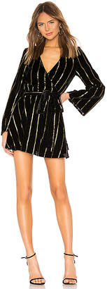 L'Academie The Wrap Mini Dress
