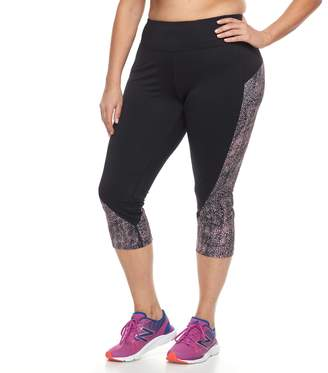 Tek Gear Plus Size Colorblocked Capri Leggings