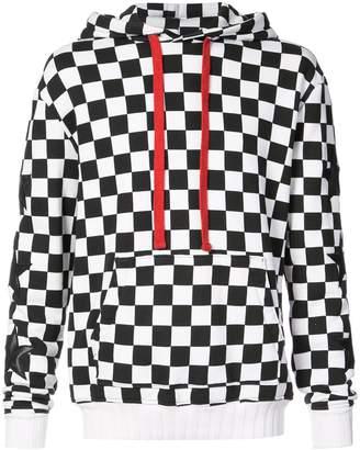 Amiri check star pullover hoodie