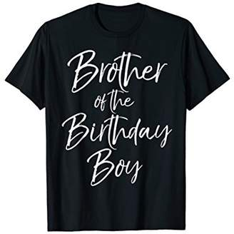Brother Of The Birthday Boy Shirt For Boys Party Celebration