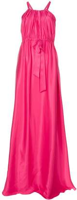 Lanvin flared cinched waist gown