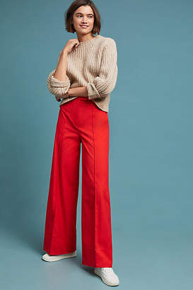 Anthropologie Poplin Wide-Leg Pants