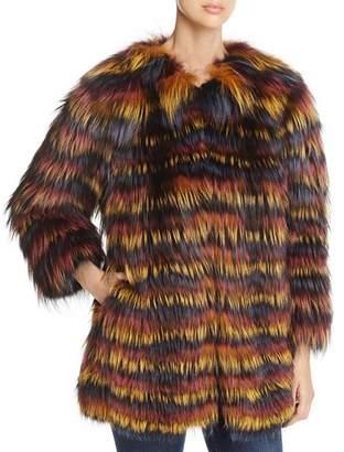 Maximilian Furs Multicolored Fox Fur Coat