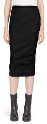 Rick Owens Soft Draped Midi Skirt