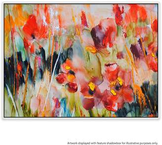 United Artworks Hypnotic Blooms Canvas Painting With Floating Frame