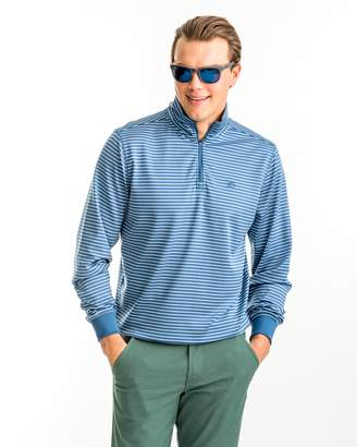 Southern Tide Riverbend Stripe Performance 1/4 Zip Pullover
