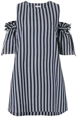 P.A.R.O.S.H. off-the-shoulder stripe dress