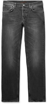 Nudie Jeans Grim Tim Organic Stretch-Denim Jeans - Men - Dark gray