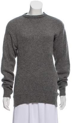 Celine Asymmetrical Cashmere-Mohair Sweater