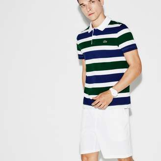 Lacoste Men's SPORT Tennis Ultra-Light Striped Knit Polo