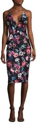 Black Halo Leni Floral Dress