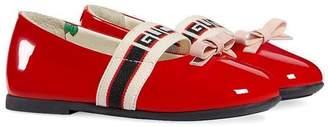 Gucci Kids logo ballerina pumps