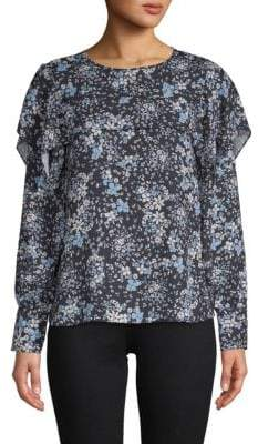 Parker Printed Long-Sleeve Blouse