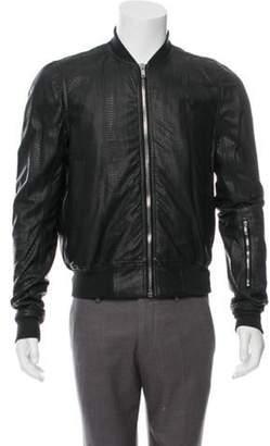 Rick Owens Walrus Snakeskin Glitter Flight Jacket w/ Tags black Walrus Snakeskin Glitter Flight Jacket w/ Tags