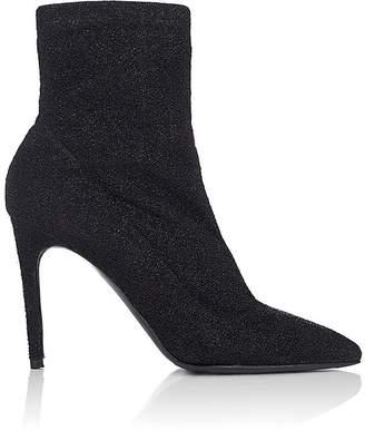 Barneys New York Women's Lula Metallic-Knit Ankle Boots