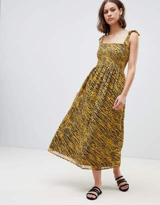 Ichi Tiger Print Maxi Dress