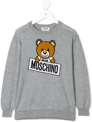 Moschino Kids TEEN teddy bear sweater