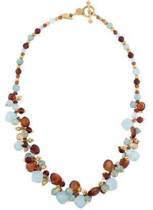 Laura Gibson Carved Gemstone Briolette Necklace
