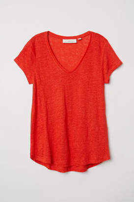 H&M Linen Top - Red
