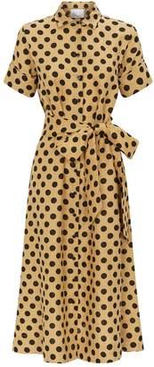 Lisa Marie Fernandez Polka Dot Shirt Dress