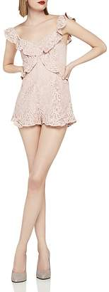 BCBGeneration Ruffled Lace Romper