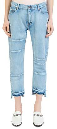 The Kooples Nory Step-Hem Jeans in Light Blue