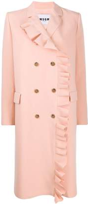 MSGM coat with ruffled detail