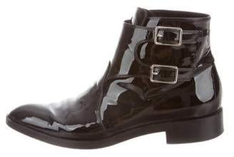 Gianvito Rossi Patent Leather Ankle Boots