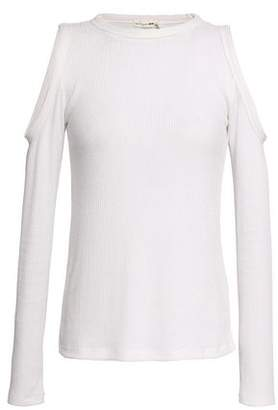 Rag & Bone Gwen Cold-shoulder Ribbed Jersey Top