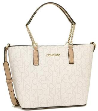 Calvin Klein (カルバン クライン) - AXES カルバンクライン トートバッグ ショルダーバッグ アウトレット レディース CALVIN KLEIN H9AEJ9YR EGS ホワイト