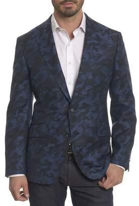 Robert Graham Porthgain Camouflage Wool-Cashmere Jacket