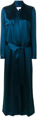 Galvan floor length evening coat
