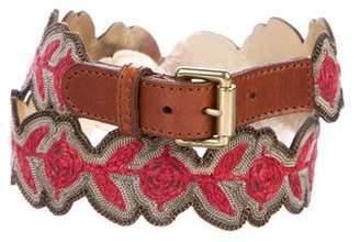 Etro Embellished Leather Belt