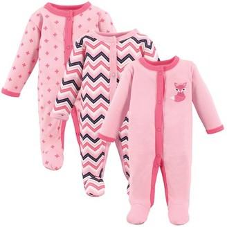 N. Generic Preemie Baby Girl Sleep 'N Play, 3-pack